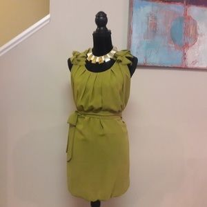 Pinky/ Olive Green/Sleeveles Balloon Bottom/ Dress